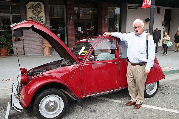 Michael Adamson with a 1971 Citroen 2CV